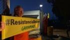 Activistas de Greenpeace en Doña Ana, Andalucía