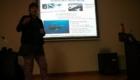 Charla sobre las ballenas en la Facultad de Ciencias de Cadiz.